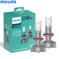 Philips Ultinon LED H8 H11 H16 12V 11366ULX2 6000K Bright LED Auto Fog Lamps Car Headlight +160% Brighter Germany (Twin Pack)