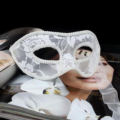 2017 Cadılar Bayramı Kostüm Venedik Masquerade Dantel Kadın Erkek - Tatiller ve Partiler Için - Fotoğraf 4
