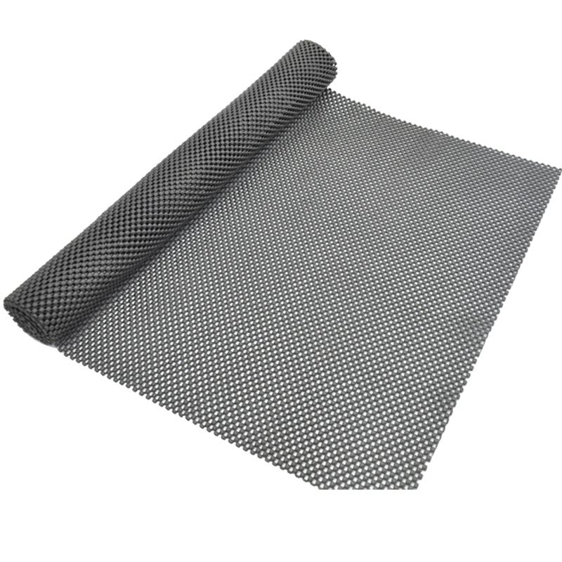 Car Dashboard Anti Slip Magic Sticky Holder Non Slip Mesh Rectangle Mat Pad Sticky Pad Cell Phone Holder Black
