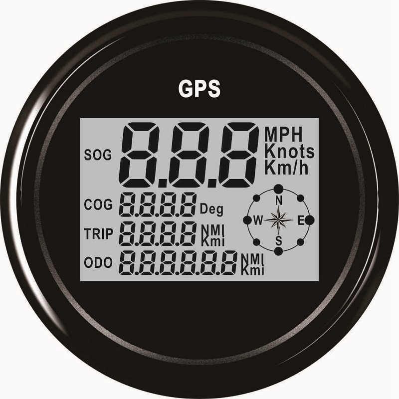 New 85mm Digital GPS Speedometer Odometer Gauge For Auto Car Truck Marine 9 32V With Red