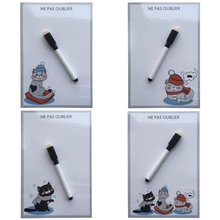 cute cat printed Dry Erase Flexible Magnetic Whiteboard Message board Memo Pad Dialog Box Magnet fridge