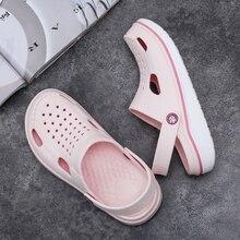 2020 Hot Sale Brand Clogs Women Sandals Slippers Pink Shoe EVA Lightweight Sandles Unisex Colorful Shoes for Summer Beach Mens