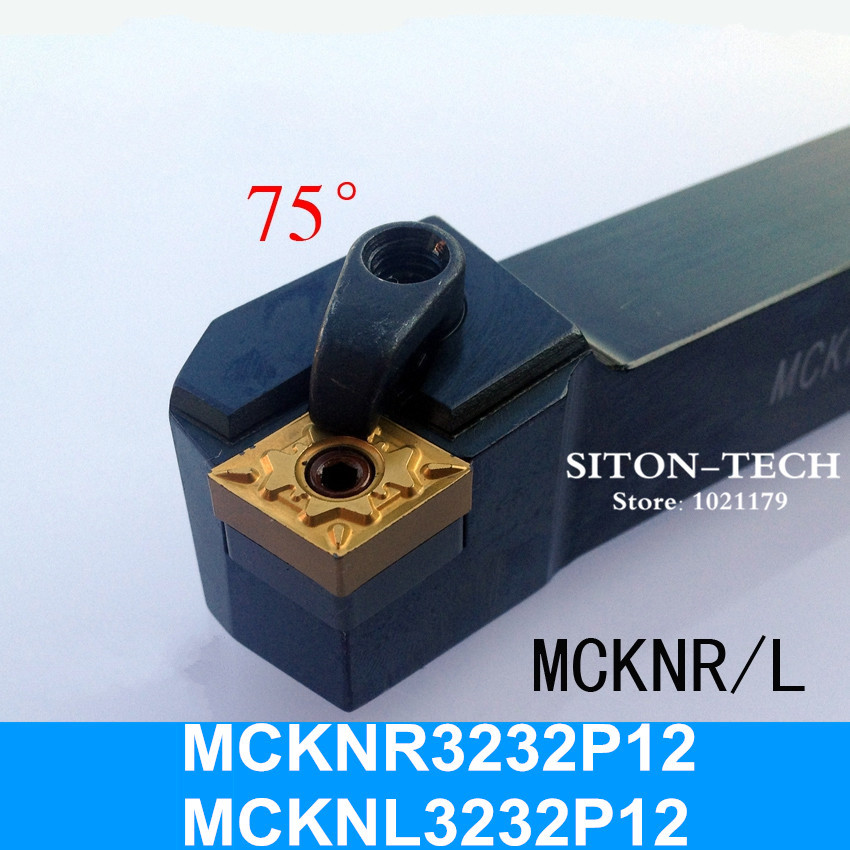 MCKNR3232P12 CNC Turning Lathe Tools Lathe Tools Bit 75 degrees External Turning Tool Holder 32*32*170MM MCKNL3232P12