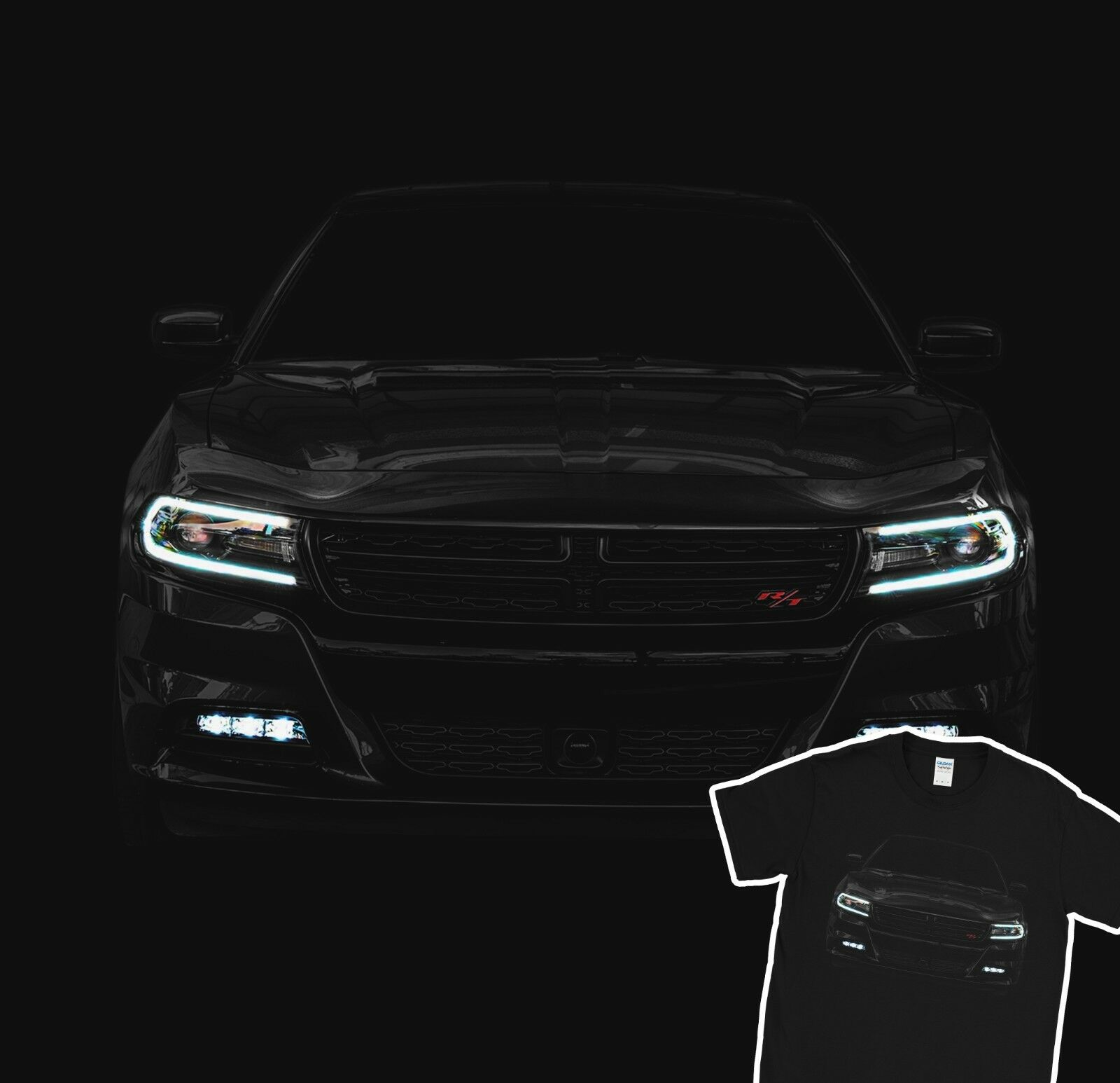 2016 Car Charger R/T T-Shirt 100% Cotton Holiday Gift Christmas Birthday Men 2019 New Summer Short Sleeve Cotton Print T Shirts image