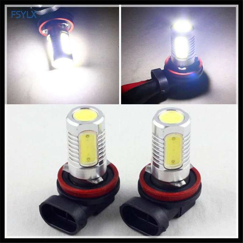 FSYLX NEW H8 H9 H11 LED fog light bulb H8 H11 Car LED DRL Fog Lamp H11 COB LED fog daytime driving light DRL Car fog light bulbs dls flatbox slim mini