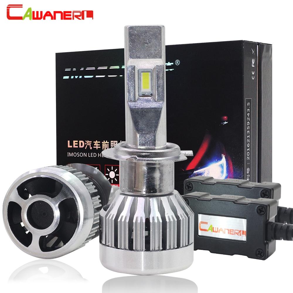 Cawanerl Super lumineux 80 W 12000LM/Set Mini Type LED phare de voiture H7 H8 H9 H11 9005 HB3 9006 HB4 9012 phare antibrouillard automatique
