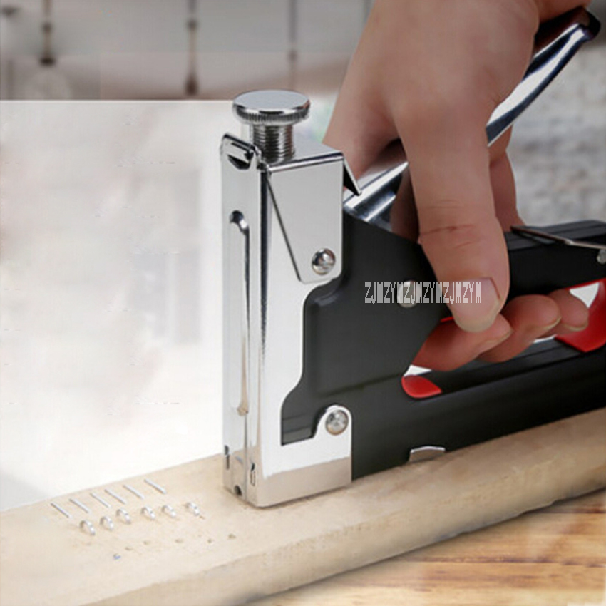 New Mulool Nail Staple Gun Furniture Stapler For Wood Door Upholstery Framing Rivet Kit Nailers Tool 001 Hot
