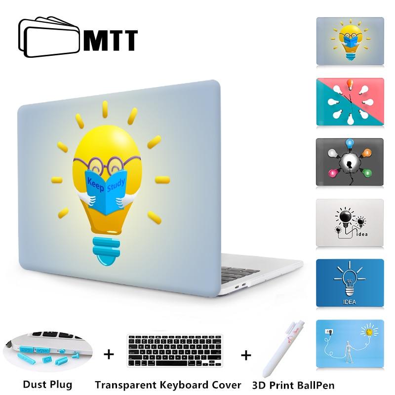 MTT Light Bulb Design Case For Macbook Air Pro Retina 11 12 13 15 Cover For 2018 Macbook 13.3 15
