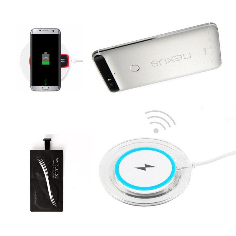 Цена за Тип c QI Беспроводной Зарядное устройство для Google Nexus 6 P зарядного устройства Беспроводной приемник для Huawei Nexus 6 P Тип C Зарядное устройство силиконовый чехол