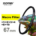 New Zomei 67mm Macro Lens +1 +2 +3 +4 +8 +10 Close Up Closeup Filter For Canon Nikon Sony Pentax Hoya SLR DSLR Camera 67 mm lens