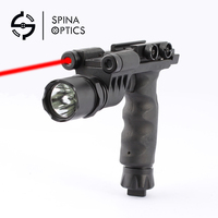 SPINA OPTICS Red Green Laser Outdoor flashlight strong flashlight grip handle 20mm clasp kam Ming Hunting accessory black