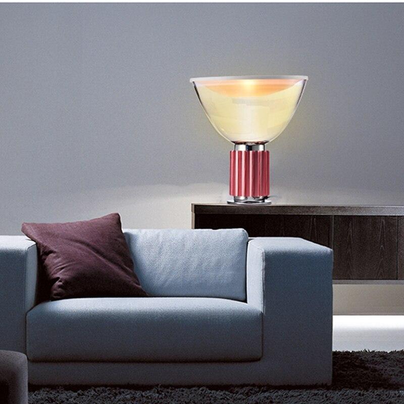 Nordic Modern Design table lamp Industry Wind table light Bedroom Bedside Radar Lamp Home Warm Glass desk Lamp Study Living Room Desk Lamps     - title=