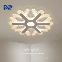 Ultrathin Acrylic Snowflake Shape Led Chandeliers Lights For Study Kids Room Bedroom Modern Led Ceiling Chandelier