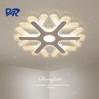 Ultrathin Acrylic Snowflake Shape Led Chandeliers Lights For Study Kids Room Bedroom Modern Led Ceiling Chandelier