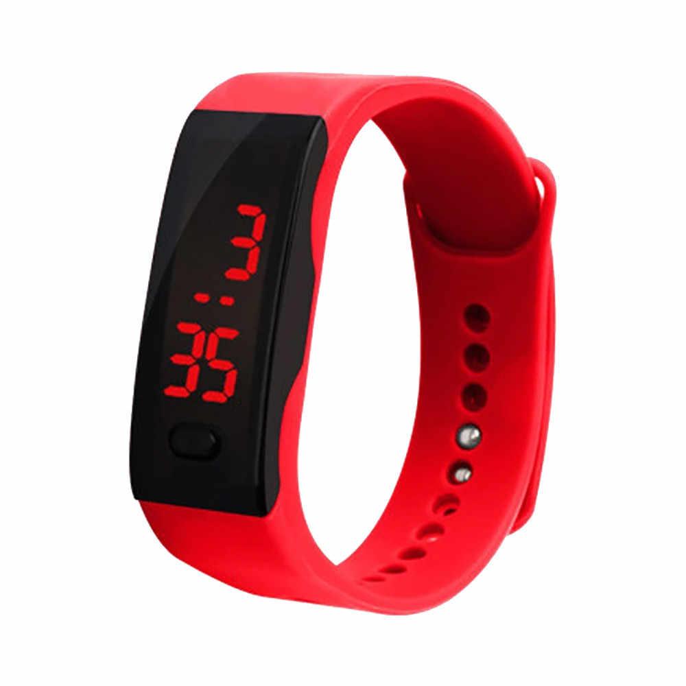 Das mulheres Dos Homens Do Esporte Relógio Eletrônico LEVOU Display Digital Pulseira Relógio das Crianças Esportes de Sílica Gel Assistir Reloj deportivo L58
