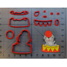 Cute Circus Seal Cookie Cutter Set Fondant Cupcake Top Mould Made 3D Printed Cookie Cutter Set Cake Mold Biscuit Stamp Molds