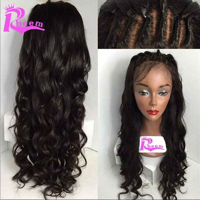 Loose Wave Glueless Lace Front Human Hair Wigs Brazilian Virgin Human Hair Full Lace Frontal Wigs With Baby Hair For Black Women