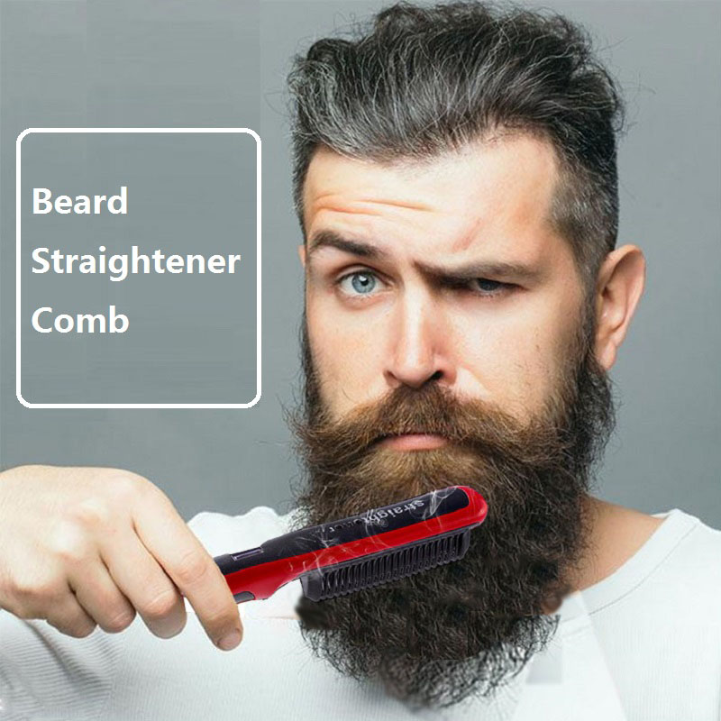 Beard Straightener Portable Men Fast Beard Comb And Ceramic Heating  Comb For Man 7