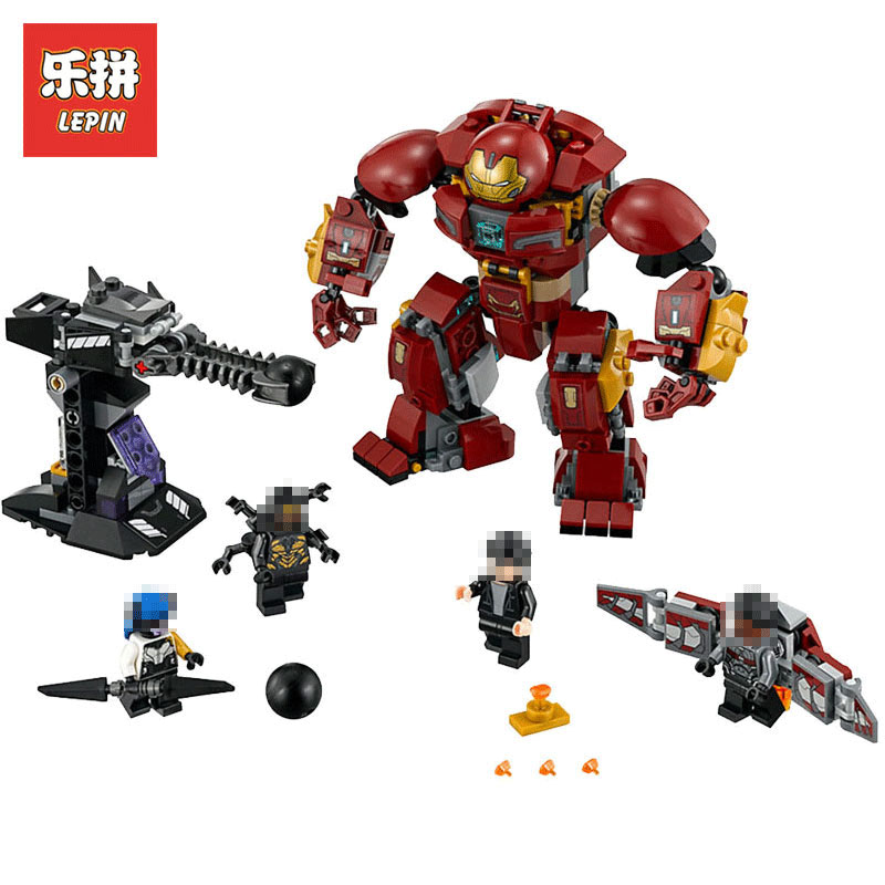 все цены на Lepin Super Heroes The Hulkbuster Smash-Up 07102 Man Hulk Superhero Marvel Iron LegoINGlys 76104 Building Blocks Bricks Toys