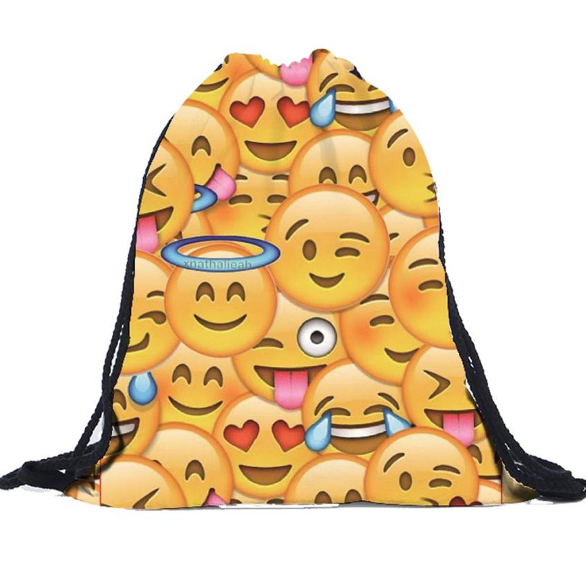 Women Men Simple Fashion Drawstring Bag Female Bag Unisex   3D Printing Bags Women's Luxury Drawstring Backpacks Mochila A8