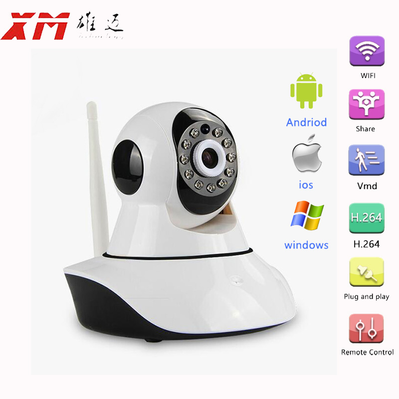 HD Wireless IP Camera IR Cut Night Vision Audio Recording Network CCTV Onvif Pan Tilt P2P