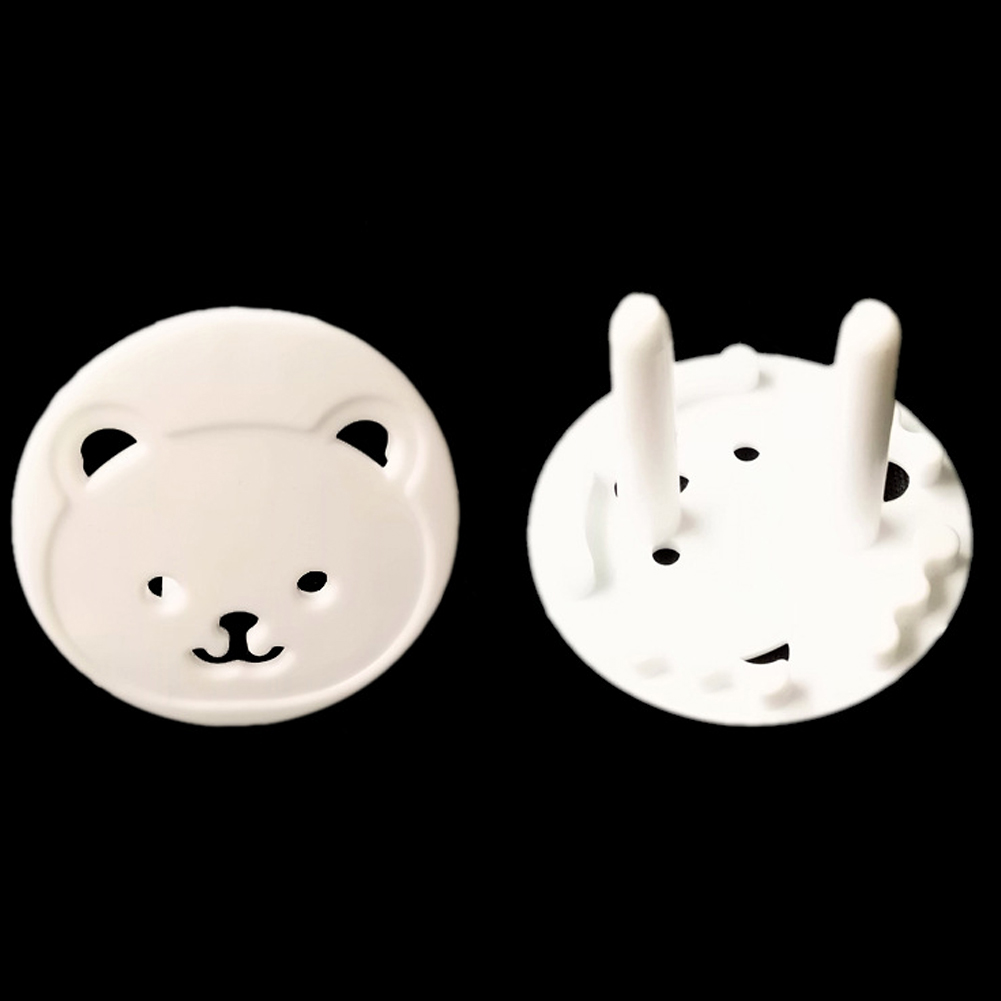 10pcs Cute Bear Power Socket Electrical Outlet Baby Kids Child Safety Guard Protection Anti Electric Shock Plugs Protector Rota