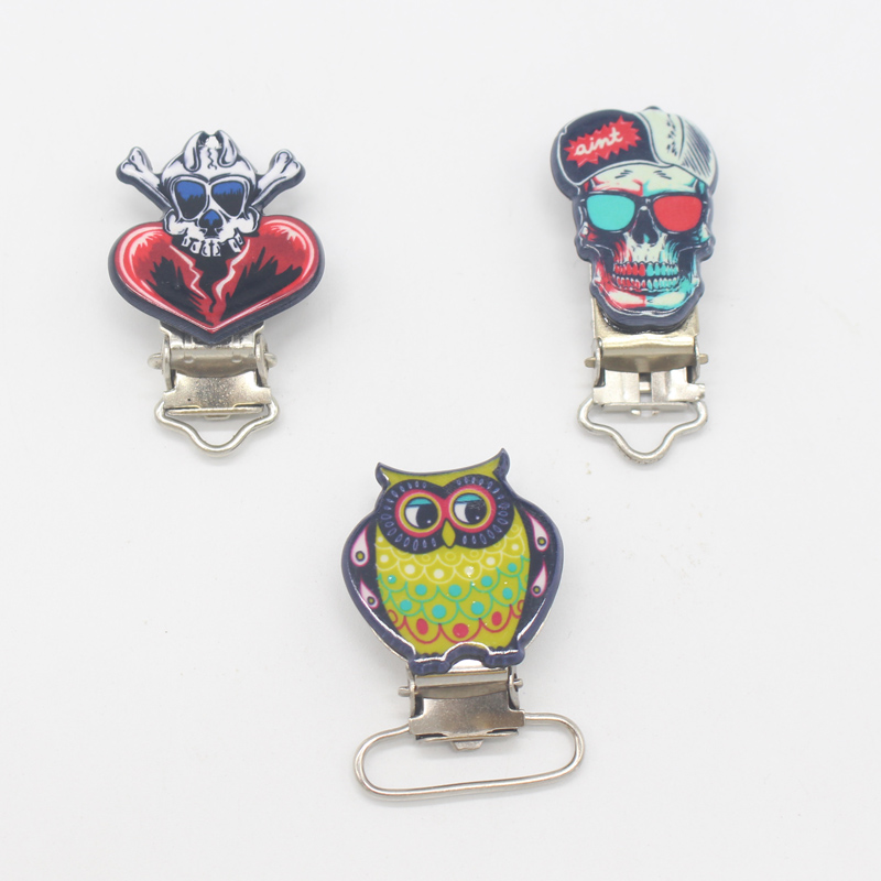 Flight Tracker 5pcs Unique Owl Skull Soldier Pacifier Clip 2018 Newest Newborn Baby Gift Soothie Clip For Baby Dummy Feeding Delaying Senility Mother & Kids