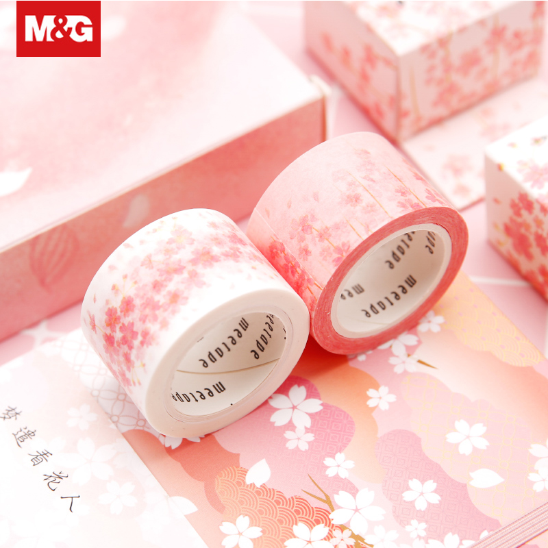 Beautiful Flowers Washi Adhesive Tape Kawaii Cute DIY Decoration Scrapbooking Sticker Masking Tape Paper Label Supplies AJDN7542