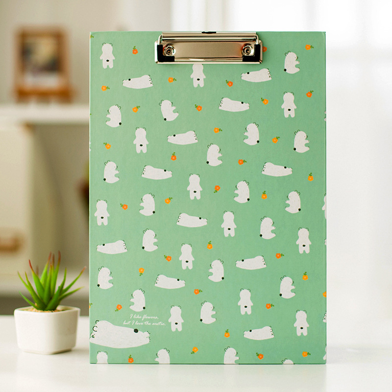 Us 499 Cute A4 Bear Cactus Owl Clipboard Stationery Store Clip Paper Folder Board Desk File Drawing Writing Pad School Office Accessory In