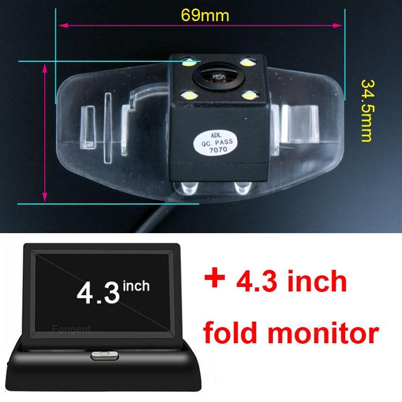 For Honda Accord Pilot Civic EK FD Odyssey CRV SPIRIOR Fit City CRIDER Paking Rear View Reverse backup Wireless Camera Monitor