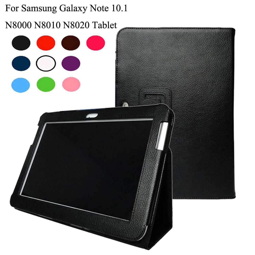 For Samsung Galaxy Note 10.1 <font><b>GT</b></font>-<font><b>N8000</b></font> N8010 N8020 Tablet New Fashion Premium Stand PU Leather <font><b>Case</b></font> Cover +Film+Stylus image
