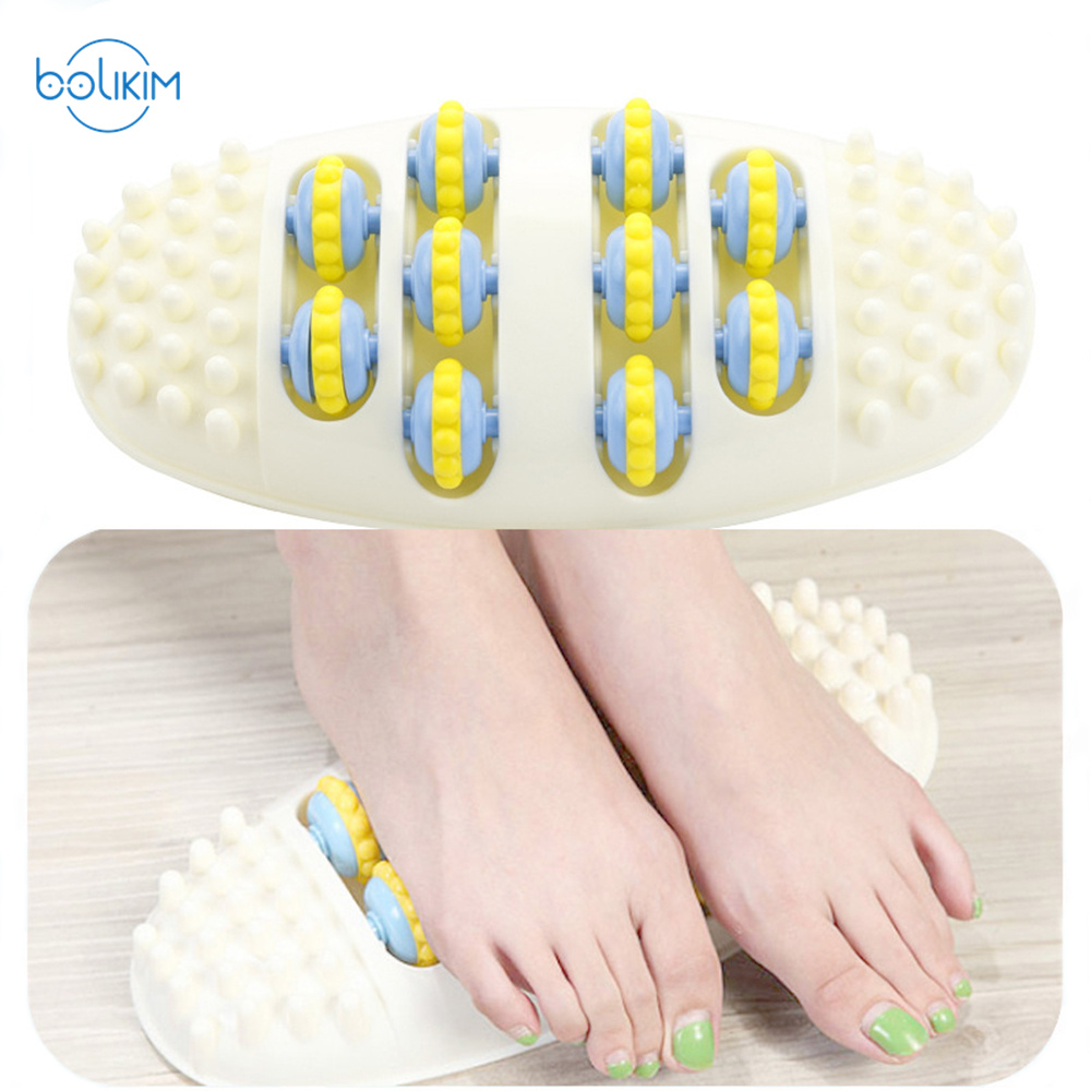 BOLIKIM Foot Sole Massage Device Roller Foot Massager Feet Leg Massage Foot Point Ball Household Foot Care Massager b12 foot 5 row wooden roll foot massager wooden roller stress relief body massage feet relax spa wood massager for foot care