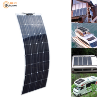 BOGUANG Flexible Solar Panel Solar Charger 16V 100W placa pannello Photovoltaic solar energy for 12V battery charging china