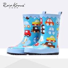 Детские сапоги мультфильм Обувь для мальчиков резиновая резиновые сапоги непромокаемые сапоги для девочек резиновые сапоги резинки резиновые галоши детей Детская обувь 23 36