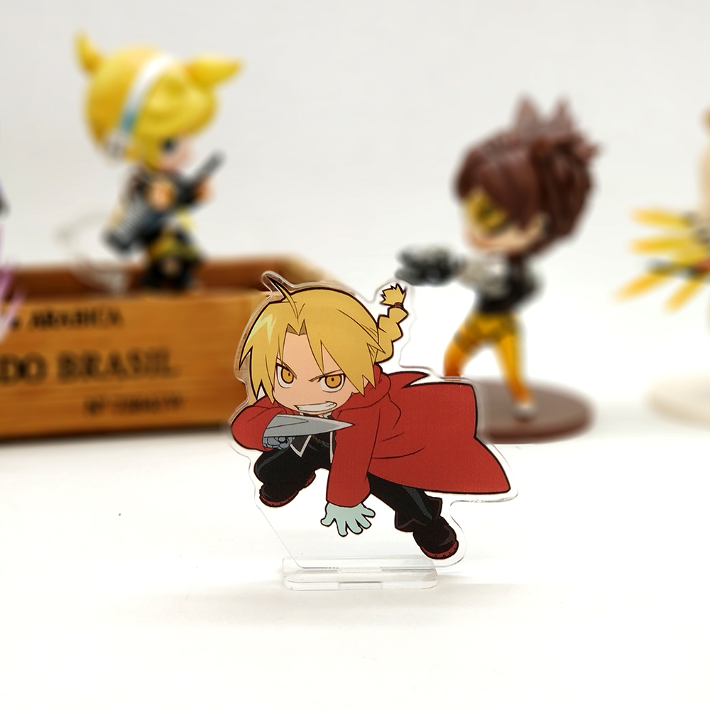 Love Thank You Fullmetal Alchemist Edward Elric SMALL acrylic stand figure model plate holder cake topper anime JAPANESE cute