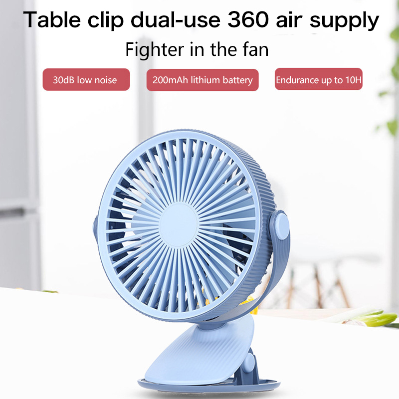 Color : Blue Air Cooling Fan Simple USB Fan Portable Mini Handheld 180 Degrees Rotating Collapsible Foldable Fan