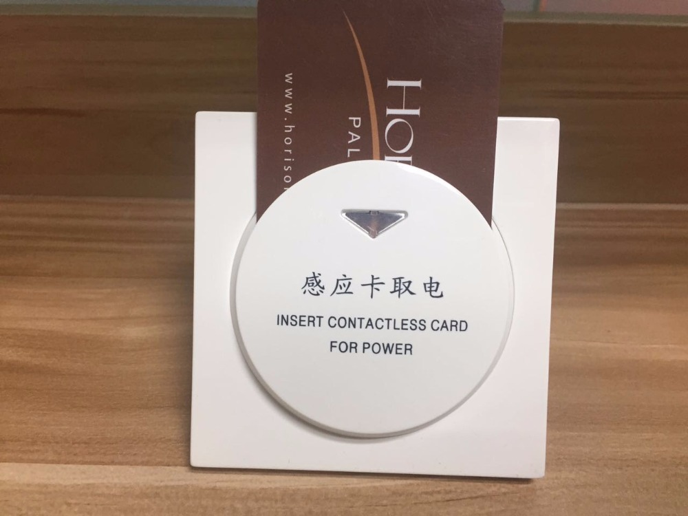 Factory Direct Selling Hiread Brand 125khz T57 T5567 Rfid Wall Insert Hotel Room Card Key Energy Saving Round Whit Switch Access Control