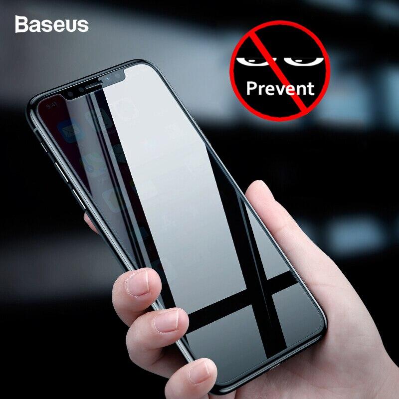 Protetor de tela de proteção de privacidade baseus para iphone xs max xr x s r anti-peeping película de vidro temperado protetora para iphonexs