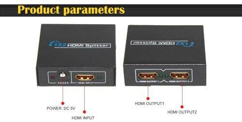 1.3V 3D 2 Port HDMI Splitter