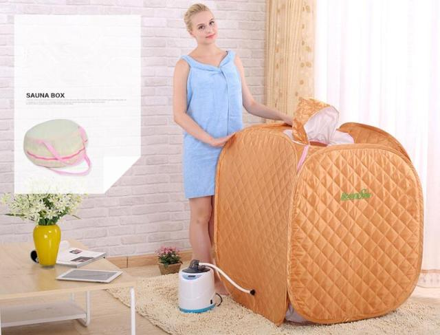 Portable Folding Home Therapeutic Steam Sauna RoomAnd 2.0L Fumigation Massage Machine  Full Body Loss Weight