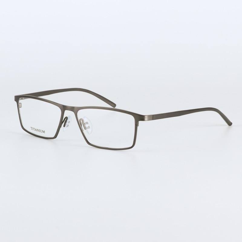 JIE.B zīmola brilles rāmis vīrieši sievietes Retro Pure titāna - Apģērba piederumi - Foto 5