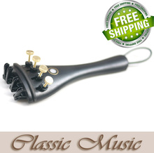 Ebony Tailpiece for Violin (4/4), with 4 fine tuner