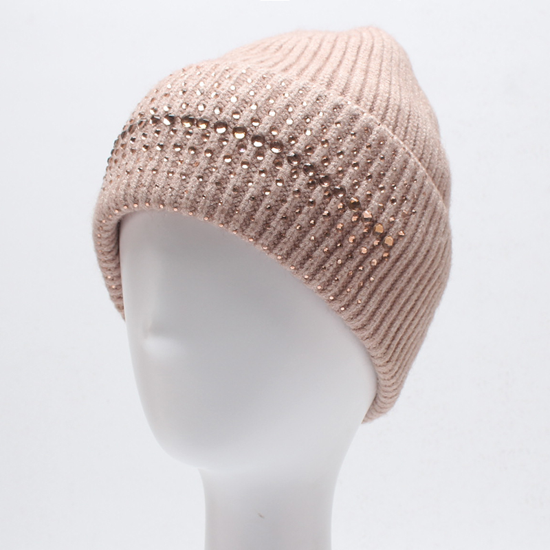 Women Winter Beanies Hats Fashion Diamond Wool Knitted Skullies Casual Warm Solid Color Gorros Bonnet Femme Hat for Girls wool hat women warm winter hats solid flower thick knitted lady beanies hat skullies bonnet femme bucket cloche winter cap 2017