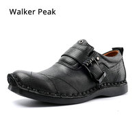 Men's Cow Genuine Leather Casual shoes Business Men Dress Shoes Autumn Winter Classic Waterproof Lace up man Designer Sneakers