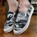 Alta qualidade camuflagem sapatos para homens moda respirável sapatos casuais condução sapatos Lace up Flats sapatos novos Alpargatas