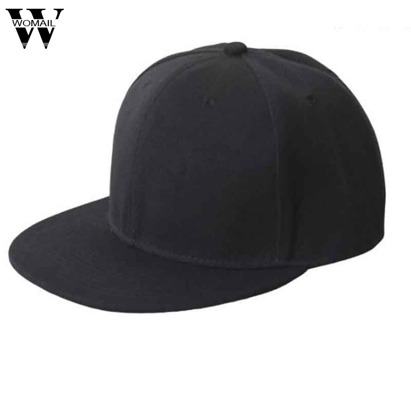 Casual Men Women Black Snapback Hats Unisex Hip-Hop Adjustable Baseball Cap Unisex Hats