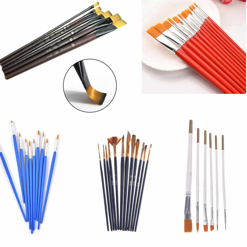 Acrylic Watercolor Student Stationary Paint Brushes Drawing Brush Art Supplies