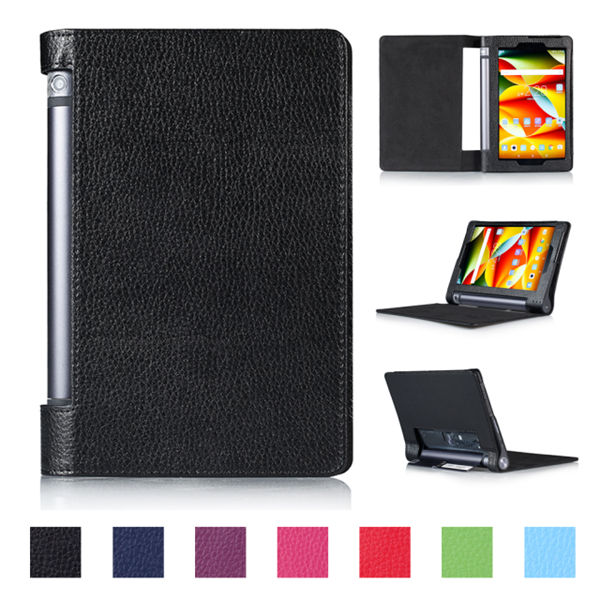 High quality Classic Lichee Pattern PU leather Book case cover for Lenovo Yoga tablet 3 850F tablet for tab3 850F YT3-850F case универсальный держатель imount