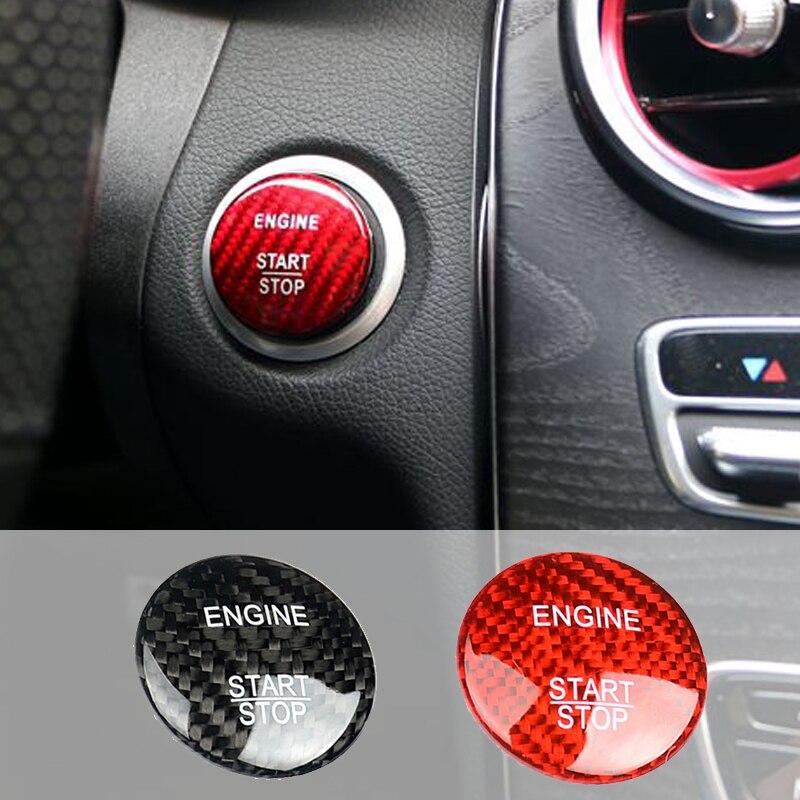 For Mercedes Benz CLA Class C117 CLA200 CLA220 Car Styling Carbon Fiber Engine Start Stop Button
