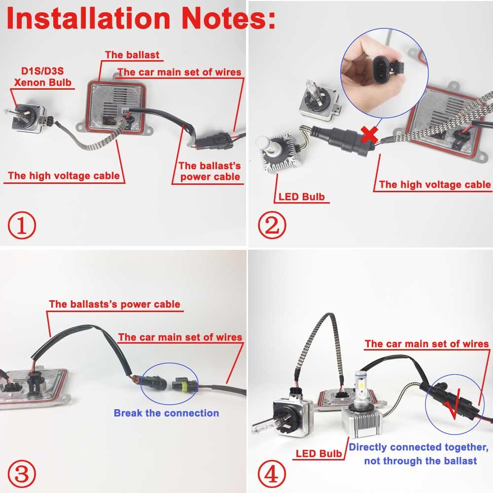 Vehigo D1s Car Led Light Bulbs 6000k White 36w Lamp Wiring Diagram Of A Bulb Plugplay Auto D3s Headlight 12v 24v In Bulbsled From